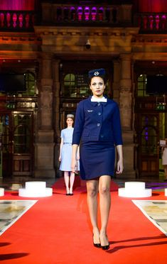 Air France Uniforms Have Delighted For Decades Air France, Flight Attendant Hot, Free Spirit Girl, New Fashion, Fashion Show, Airline Uniforms, Wardrobe Basics, Military Fashion, Feminine Style