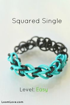 How to Make a Squared Single #kids #crafts #stretchband #loopband #loombracelet