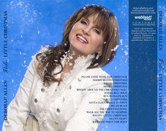 Deborah Allen album graphic for Rockin Little Christmas CD