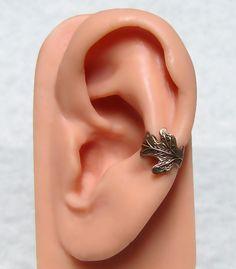 Oak Leaf Ear Cuff by ranaway on Etsy, $10.99