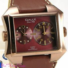 OMAX Waterproof 5ATM SS Seiko Movt Gents Unisex Dual Time Twin Zone Watch DUL009