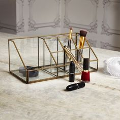 Glass Make Up Box - View All Bedroom - Bedroom - Kitchen, Bed & Bath