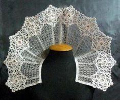 Its a Elizabethan ruff!   FSL Battenberg Lace Snowflake Collar