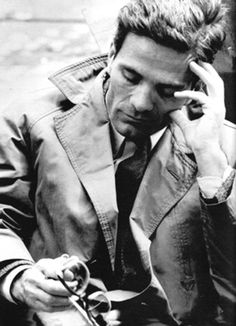 Pier Paolo Pasolini (Italian controversial director: Il Vangelo secondo Matteo [The Gospel According to Matthew, 1964], Il Decameron [The Decameron, 1971], I Racconti di Canterbury [The Canterbury Tales, 1972], Il fiore delle Mille e una Notte [Arabian Nights, 1974], Salò o le 120 giornate di Sodoma [Salò, or the 120 Days of Sodom, 1975])
