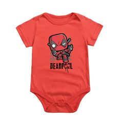 Infant Boy Girl Pajamas Clothes Deadpool Cartoon Newborn Cotton Bodysuits Baby Short Sleeve Underwear Overall Nursling Jumpsuits Pajama Outfits, Toddler Outfits, Baby Boy Outfits, Kids Outfits, Deadpool, Pyjamas, Goth Baby, Baby Jumpsuit, Boys Underwear