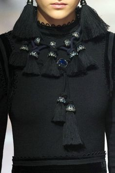 Bijoux, Bijoux: Fall 2015 Jewelry Report - Fringe Factor - Lanvin