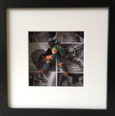 Star Wars Boba Fett Figure Boxed Frame Wall Art by BenjoCreations
