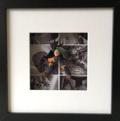 Star Wars Boba Fett Figure Boxed Frame Wall Art by BenjoCreations