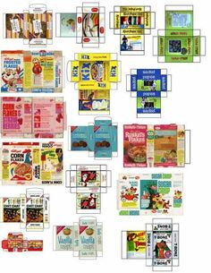 7 Best Images of Dollhouse Grocery Printables - Dollhouse Miniature Printables Food, Free Dollhouse Printables Food and Baby Doll Food Printables Dollhouse Miniature Tutorials, Miniature Crafts, Diy Dollhouse, Miniature Dolls, Victorian Dollhouse, Modern Dollhouse, Haunted Dollhouse, Miniature Houses, Vintage Dollhouse