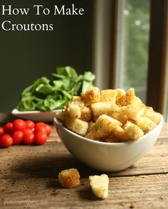 How to make Croutons  #salad http://livedan330.com/2015/06/19/make-croutons/