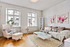 Lovely Deco: Douce féminité pour ce bel appartement scandinave
