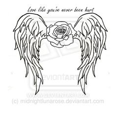 31 Best Angel Outline Tattoo Heart Images Love Tattoos Tattoo