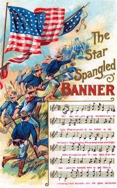 Divided Back Postcard The Star Spangled Banner Patriotic