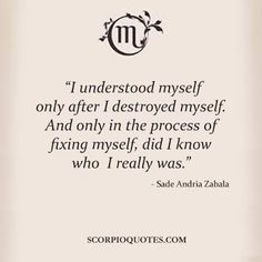 Only in the process of fixing myself, did I know who I really was.