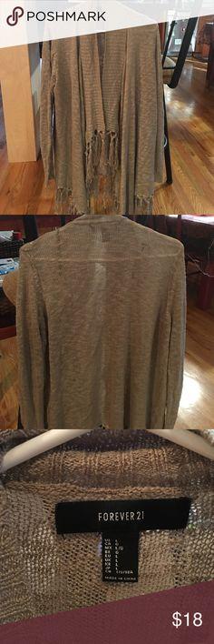 NWOT Fringe Cardigan Lightweight fringe cardigan Forever 21 Sweaters Cardigans