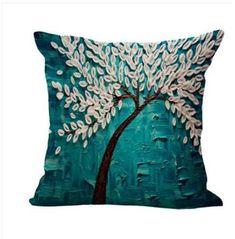 Bedding Good Modern Girl Butterfly Flower Buds Cotton Linen Pillow Case Cover,living Room Chair Seat Waist Throw Cushion Square Pillowcases 100% High Quality Materials Home Textile