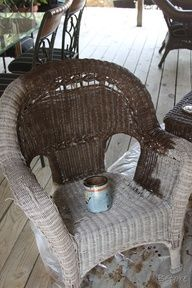 Merveilleux Painting Wicker Furniture For The Home