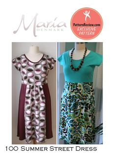 Summer street dress pattern from PatternReview, drafted by MariaDenmark