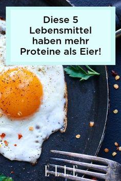 Es gibt Lebensmittel, die mehr Proteine als Eier enthalten! Welche dazugehören, zeigen wir jetzt im Video auf Elle.de! Protein, Elle, Food Trends, Breakfast, Lifestyle, Healthy Food, Losing Weight, Food Food, Morning Coffee