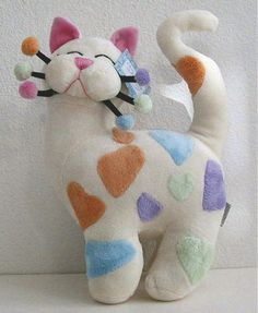 Whimsiclay Plush Cats, Plush Cat Pillows & Cat Slippers by Amy Lacombe
