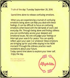Truth of the day : Tuesday September 20, 2016 #truthoftheday #inspiration #motivation  www.askmaryellen.com