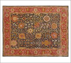 I want a new living room rug like this Alexandra Persian-Style Rug from Potterybarn.