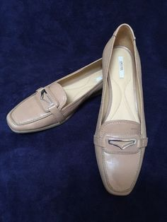 GEOX RESPIRA LATHER Flat shoes UK7 EU41 BNWOB Beige RRP£137 | eBay