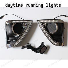 2 pcs For T/oyota Vi/os 2014 2015 LED DRL Daytime Running Light white Fog lamp
