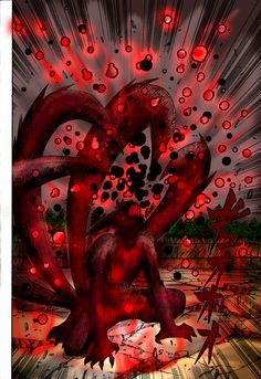 It's so sad when Naruto is overcome by hatred and unleashes the nine tails power
