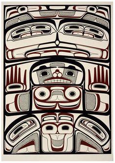 """""""raven"""", me gusta mucho lo que se expone en haida art. Haida Kunst, Arte Haida, Haida Art, Native American Design, Native Design, American Indian Art, Native Canadian, Canadian Art, Arte Tribal"""