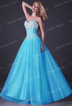 2015 SWEETHEART BEADED LONG PROM FORMAL EVENING SWEET PARTY GOWN PRINCESS DRESS