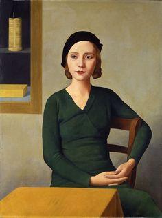 Antonio Donghi - Donna al caffè (Frau im Café), 1931