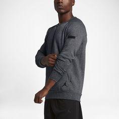 Jordan Icon Fleece Men's Sweatshirt, by Nike Size XL (Black) - Clearance Sale