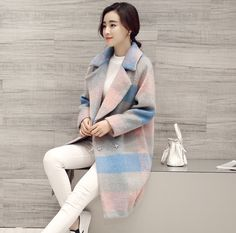 Special Offer 2015 Plaid Tweed Coats Long Loose Thick Wool Coat Female Manteau Femme Winter Coat Women Cashmere Jacket Big Size-in Wool & Blends from Women's Clothing & Accessories on Aliexpress.com | Alibaba Group