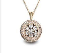 Effy Jewelry Rose Gold Diamond Pendant #pavelife #jewels