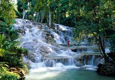Dun River Falls. Ocho Rios, Jamaica. I have been there a few times and climbed this waterfall that flows into the ocean. One of my favorite places!