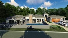6 Bedroom House Plans - My Building Plans South Africa Split Level House Plans, Square House Plans, My House Plans, 6 Bedroom House Plans, Floor Plan 4 Bedroom, Village House Design, Bungalow House Design, Br House, Garage House