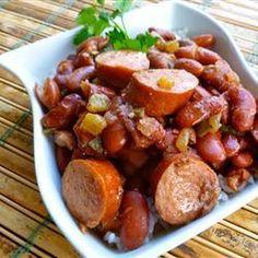 Riz créole aux haricots et aux saucisses @ http://qc.allrecipes.ca