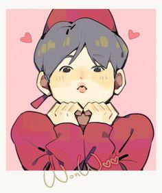 Jeonghan, Wonwoo, Carat Seventeen, Seventeen Wallpapers, Meanie, Kpop Fanart, Love Art, Seventeen Scoups, Chibi