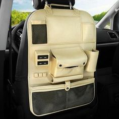 Rlorie Car Seat Side Pockets Organiser Multifunctional Car Storage Box For Left and Right Driving Positions