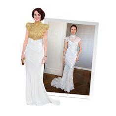 Brides.com: Celebrity-Inspired Wedding Dresses. Michelle Dockery in Alexandre Vauthier.