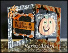 Altered Scrapbooking: Halloween Accordian Flip Card