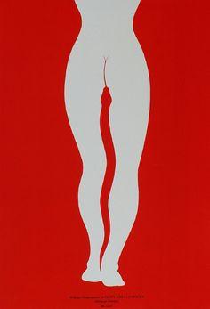 "redlipstickresurrected: "" Lex Drewiński (Polish, b. 1951, Szczecin, Poland) - Poster for William Shakespeare's Antony and Cleopatra Graphic Arts """