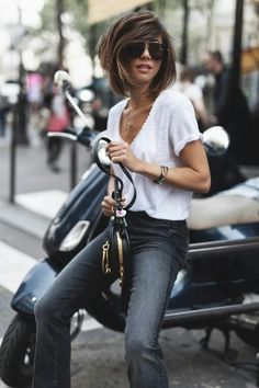 68 Street Style Inspiration To Try When You Truly Hate Your Closet Fashion Mode, Womens Fashion, Chic Outfits, Fashion Outfits, Denim Fashion, Mother Denim, Mode Style, Her Style, Passion For Fashion