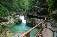 Blejski Vintgar (Bled Gorge), Bled. Slovenia
