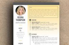 The Regina Resume Pack by LeResume on Creative Market