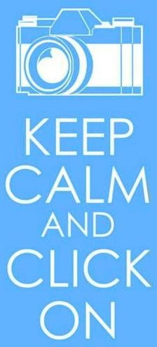 Keep calm and click on quote