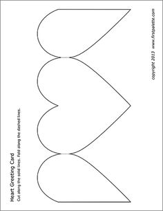 Free printable templates to make into heart-shaped paper greeting cards. Valentine Template, Cute Valentines Card, Valentine Greeting Cards, Card Making Ideas Free Printables, Card Making Templates, Card Templates Printable, Greeting Card Template, Free Printable Christmas Cards, Heart Template