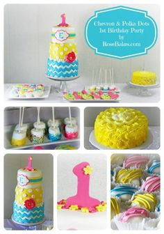 Chevron & Polka Dots 1st Birthday Party!  Click over for more pics and details!!!