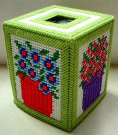 Plastic Canvas Tissue Box Patterns | ... of this pattern blooming flowers boutique tissue box pattern 75